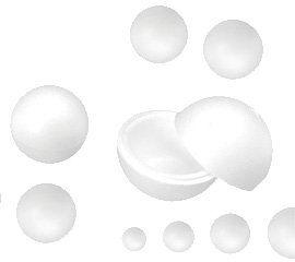 Riplast 73929 bombki, poliester, wielokolorowe, 8 x 8 x 8 cm, 20 sztuk