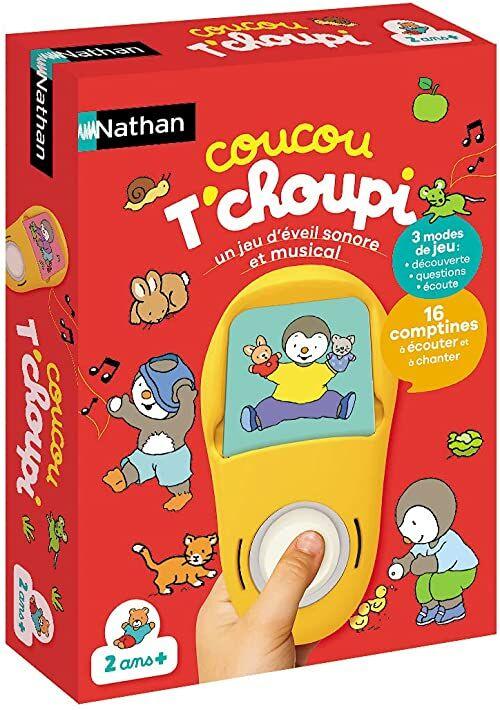 Nathan 31014 Kuckuckucks T''choupi  elektroniczna gra dla dzieci od 2 lat z najlepszymi śpiewami od przyjaciela