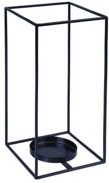 Lampion prostokąt metalowy