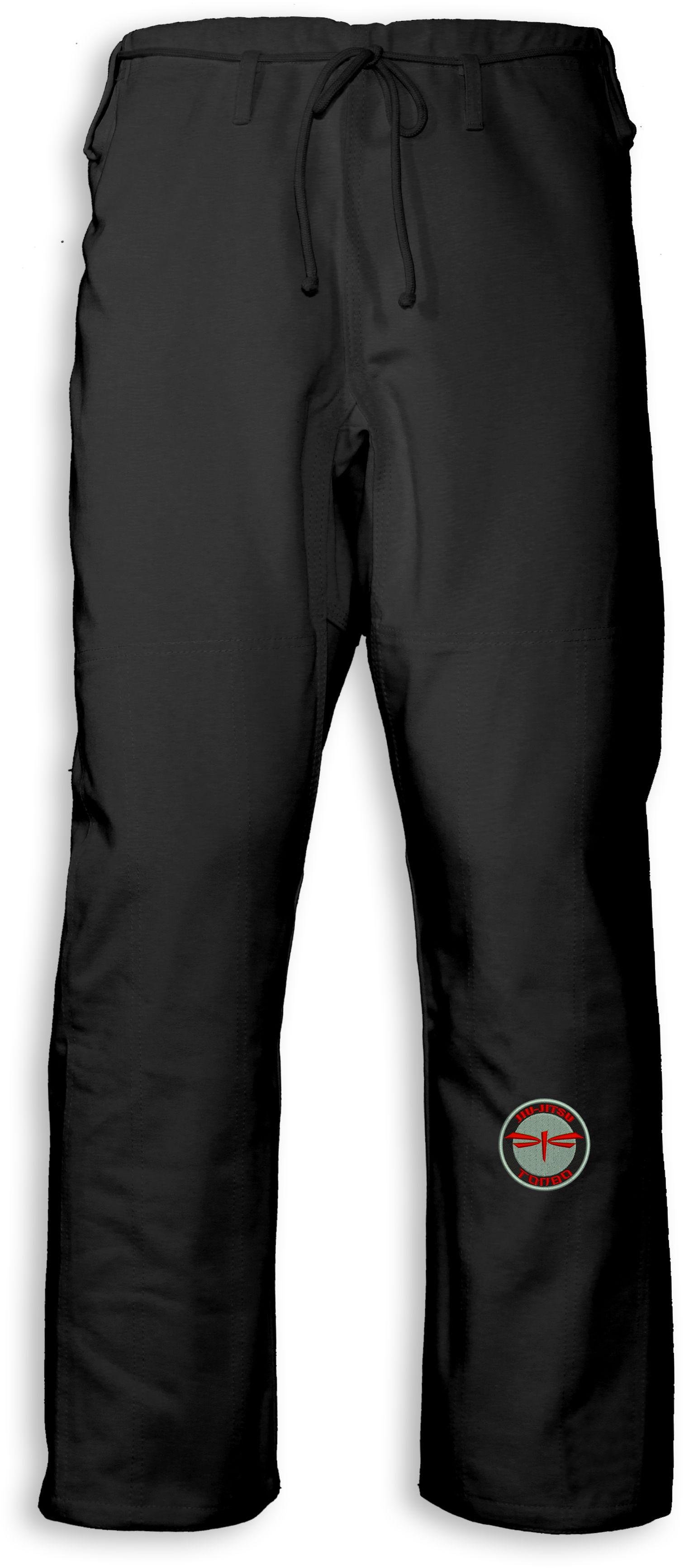 spodnie BJJ / Jiu-jitsu NAKED, czarne, 12oz (27 rozmiarów)