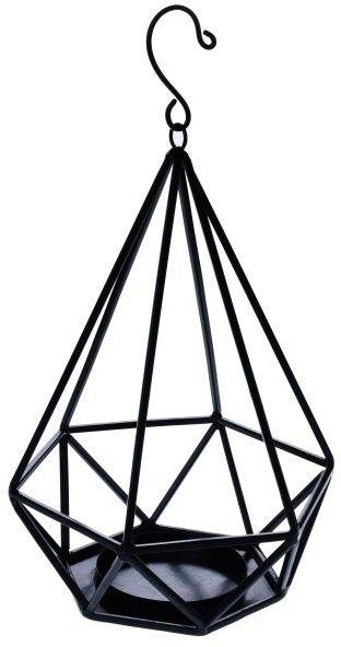 Lampion diament metalowy