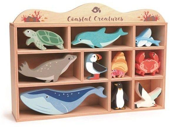 tender leaf toys - Drewniane Figurki do Zabawy - Zwierzęta Morskie, Tender Leaf Toys