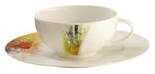 Filiżanka do herbaty ze spodkiem Achat Diamant Potpourri Seltmann Weiden
