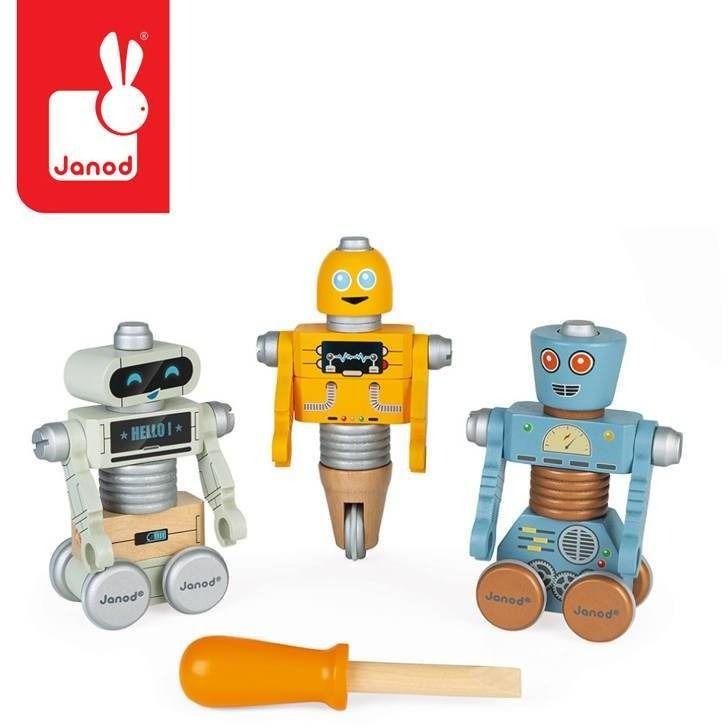 Drewniane roboty do składania ze śrubokrętem brico''kids, janod