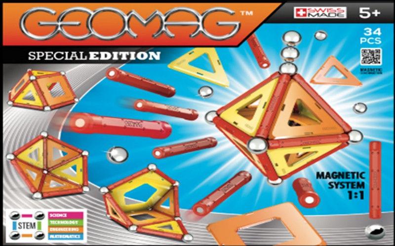 GeoMag - Klocki magnetyczne Special Edition Panels 34 el. 805