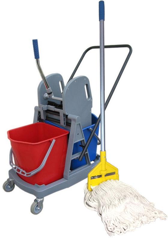Wózek do sprzątania dwuwiadrowy 2x17L z mopem sznurkowym Wózek do mycia podłóg, Wózki do sprzątania, Merida