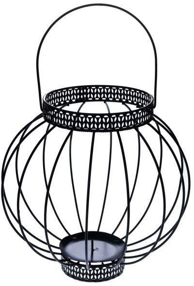 Lampion kula metalowy