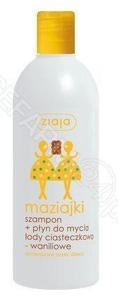 Ziaja maziajki szampon + płyn do mycia dla dzieci lody ciasteczkowo-waniliowe 400 ml