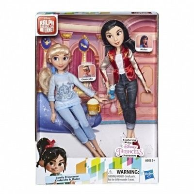 Hasbro Disney Ralph Demolka - Lalka Kopciuszek i Mulan 2-Pak E7414