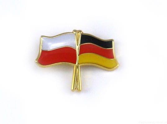 Flaga Polska - Niemcy, przypinka