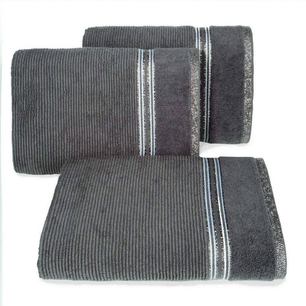 Ręcznik 30x50 Filon 04 stalowy 530g/m2 Eurofirany