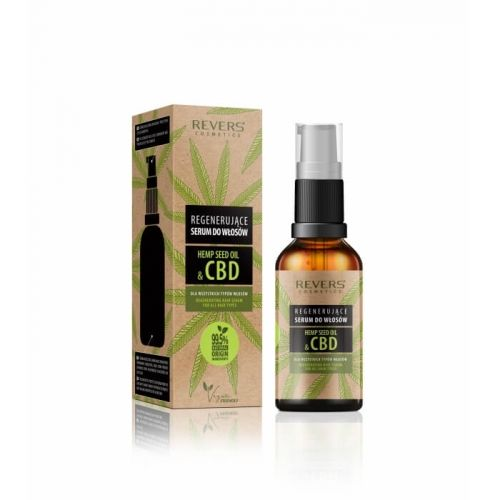 Regenerujące Serum do włosów z olejem konopnym z CBD REVERS COSMETICS