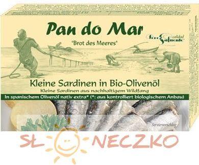 Sardynki w BIO oliwie z oliwek 120g Pan do Mar