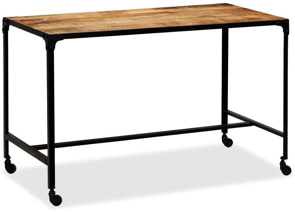 Stół industrialny Bien na kółkach  brązowy