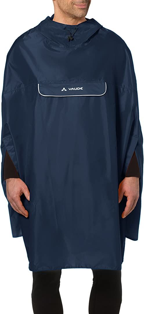 VAUDE Unisex Valdipino poncho płaszcz przeciwdeszczowy niebieski morski XL