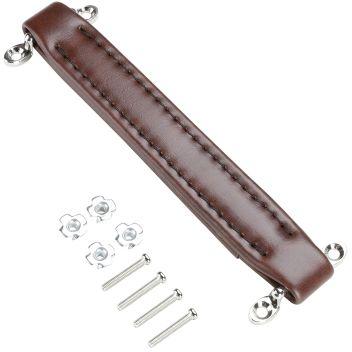 Adam Hall Hardware 3414 BRN - Uchwyt paskowy, sztuczna skóra, brązowy
