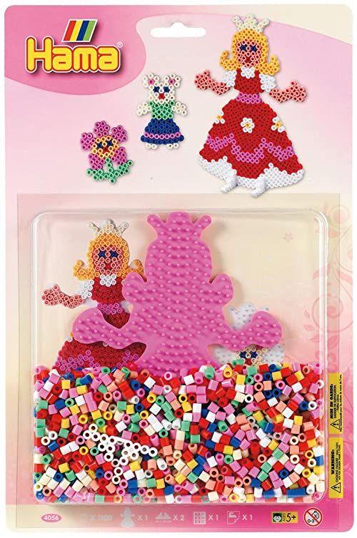 Hama 4056 - duże opakowanie blistrowe księżniczki, koraliki do prasowania