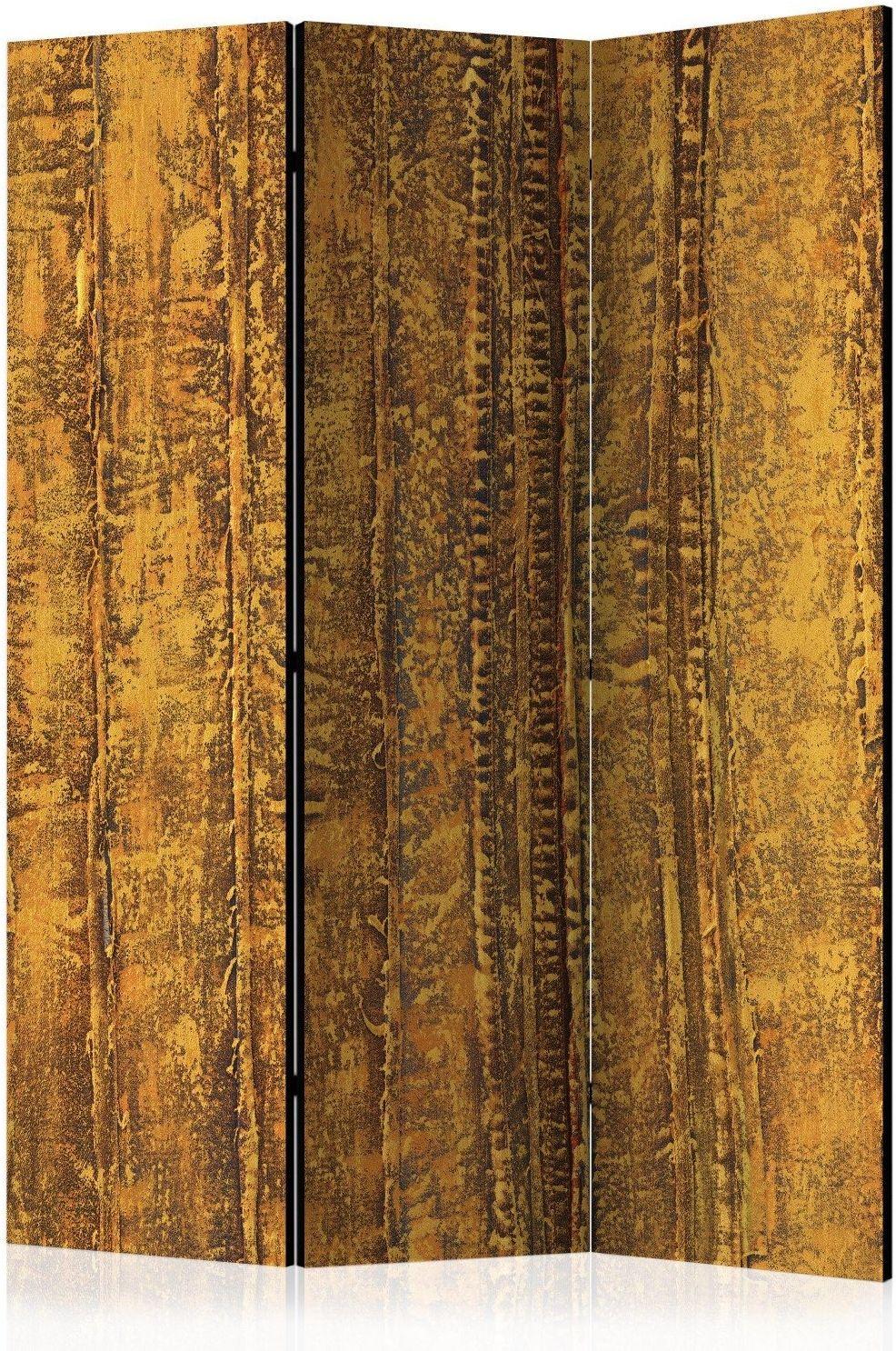 Parawan 3-częściowy - złota komnata [room dividers]