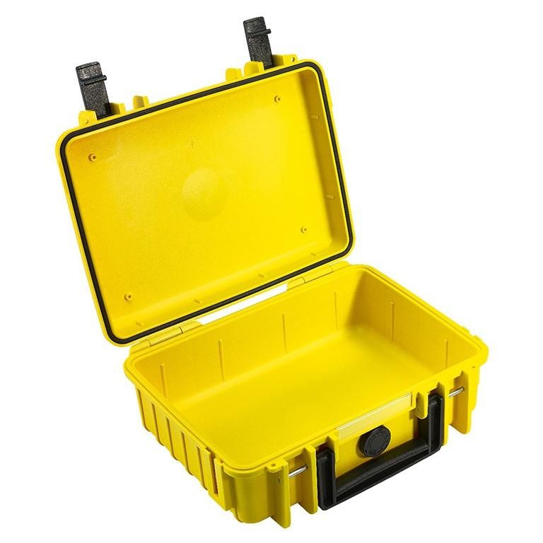 Walizka transportowa B&W outdoor.cases Typ 1000 bez wypełnienia Żółta