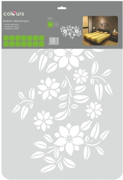 Szablon Colours floral