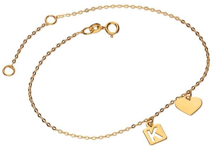 Złota bransoletka 333 tabliczka literka K 0,64 g