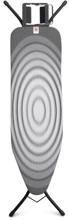 Brabantia - deska do prasowania rozmiar 124 x 38 cm, rama czarna 22mm - titan oval