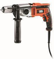 elektryczna dwubiegowa wiertarka udarowa 850W Black+Decker [KR8542K]