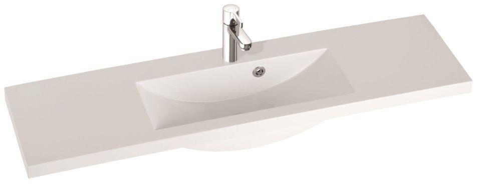 Marmorin umywalka nablatowa Talia 120, 120 cm bez otworu biała 270120022010 __DARMOWA DOSTAWA__