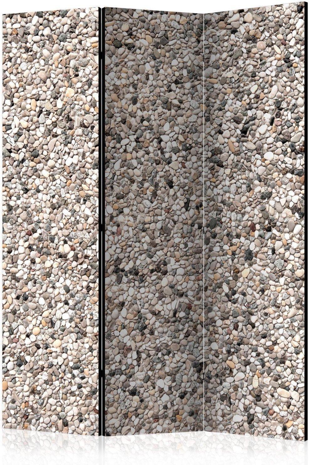 Parawan 3-częściowy - kamienny urok [room dividers]