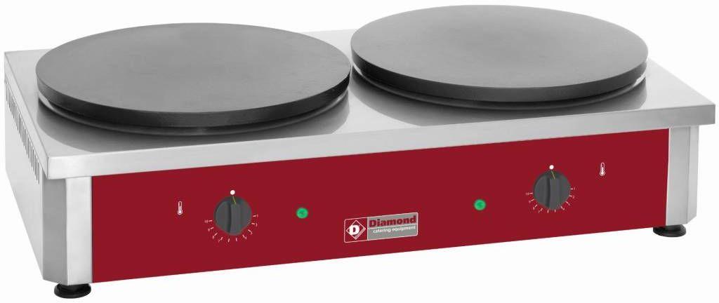 Naleśnikarka elektryczna 2 płyty ø 400mm 7200W 860x500x(H)240mm