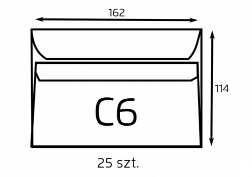 Koperta C6 biała samoklejąca (op. 25 szt.) (B-KOP-C6/25)