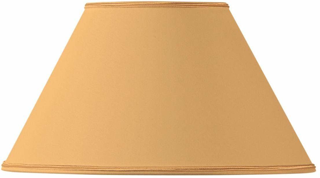 Klosz lampy w kształcie wiktoriańskim, 20 x 09 x 12 cm, żółty