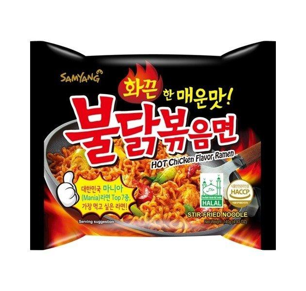 Ramyun o smaku ostrego kurczaka, ogniście ostry 140g - Samyang