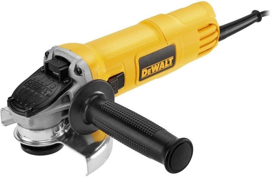 szlifierka kątowa 900W, 125mm DeWalt [DWE4157] + komplet 10szt. tarcz do cięcia stali nierdzewnej 125x22,23x1,0mm DeWalt [DT3507]