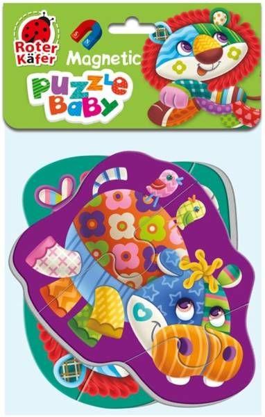Miękkie magnetyczne puzzle Lew i Hipopotam