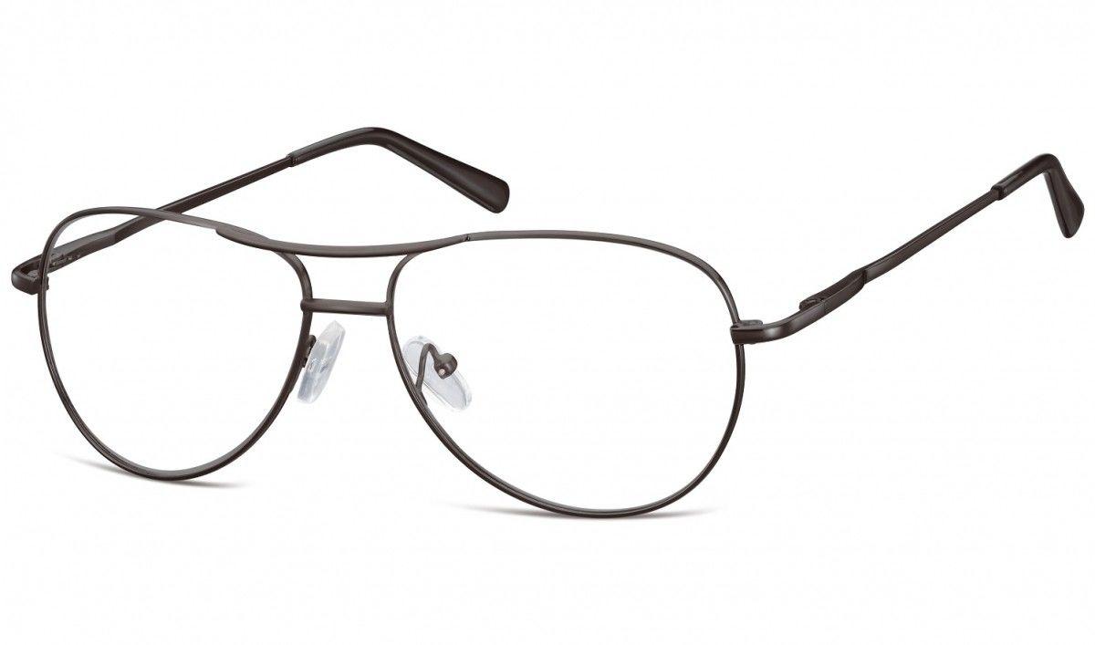 Zerowki Aviator Okulary oprawki metalowe korekcyjne 699D