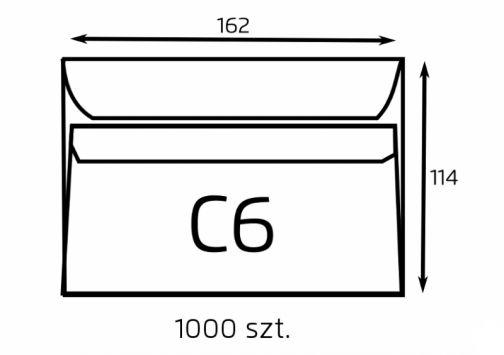Koperta C6 biała samoklejąca (op. 1000 szt.) (B-KOP-C6-biała SK/1000)