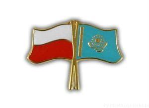 Flaga Polska - Kazachstan