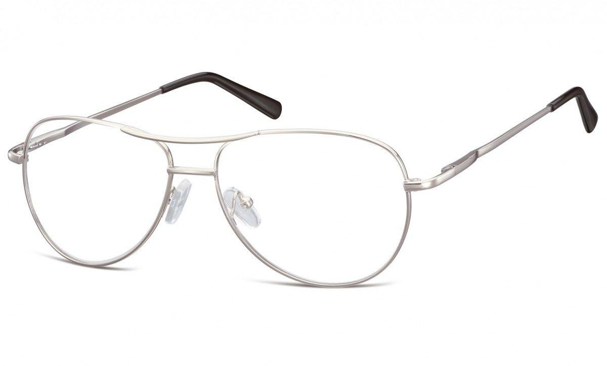 Okulary oprawki Pilotki metalowe korekcyjne 699E