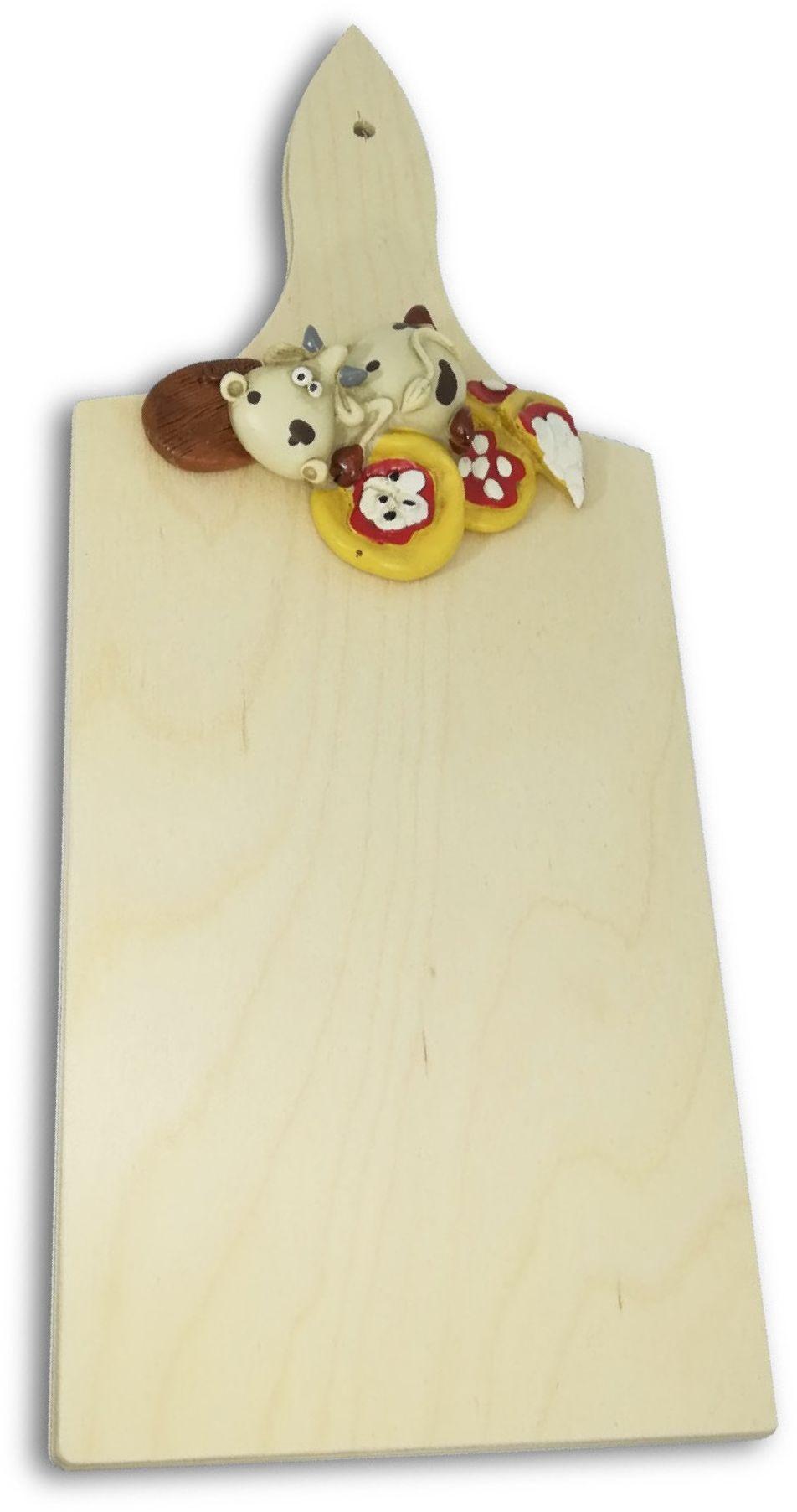 Paolo Chiari 14025T deska do krojenia Pizza Alice, drewno, wielokolorowa, 35 x 20 x 2 cm