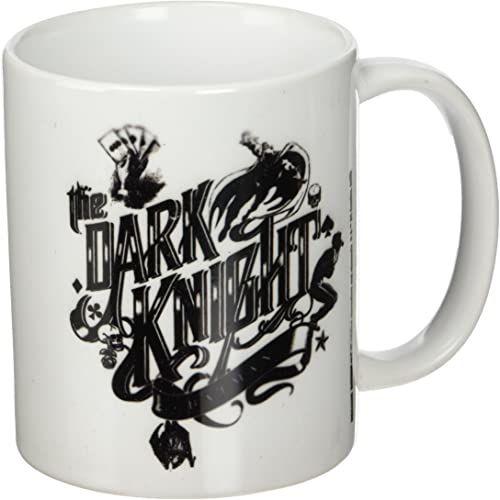 DC Comics Kubek ceramiczny z typografią Batman Dark Rycerz, wielokolorowy