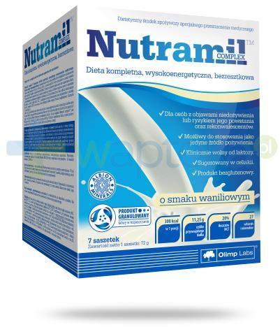 Nutramil Complex preparat odżywczy o smaku waniliowym 7 saszetek