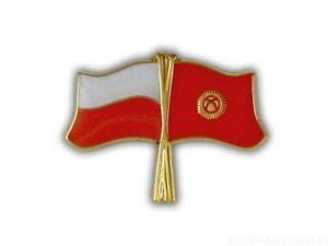 Flaga Polska - Kirgistan