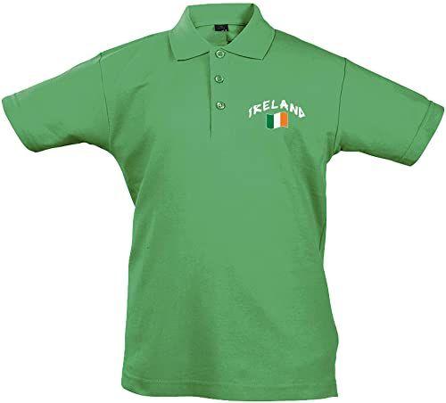 Supportershop Unisex dziecięca koszulka polo Rugby Enfant Irlande Rugby dla dzieci w Irlandii. niebieski niebieski FR : S (Taille Fabricant : 4 Jahre)