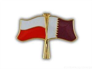 Flaga Polska - Katar
