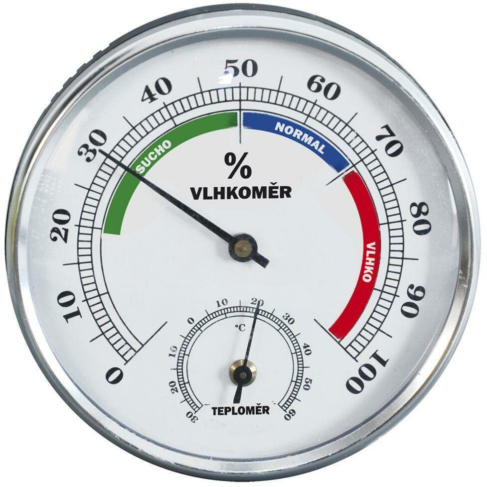 Higrometr + termometr wewnętrzny zewnętrzny