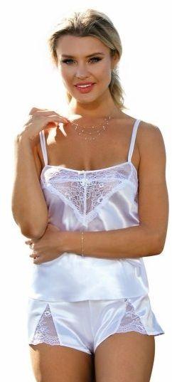 Piżama damska dkaren zala biały