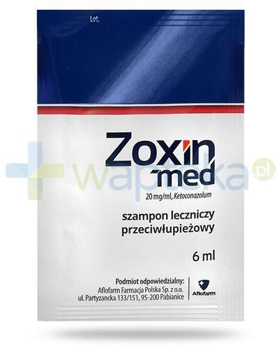 Zoxin-Med, Ketoconazolum 20mg/ml, szampon leczniczy przeciwłupieżowy 6x 6 ml