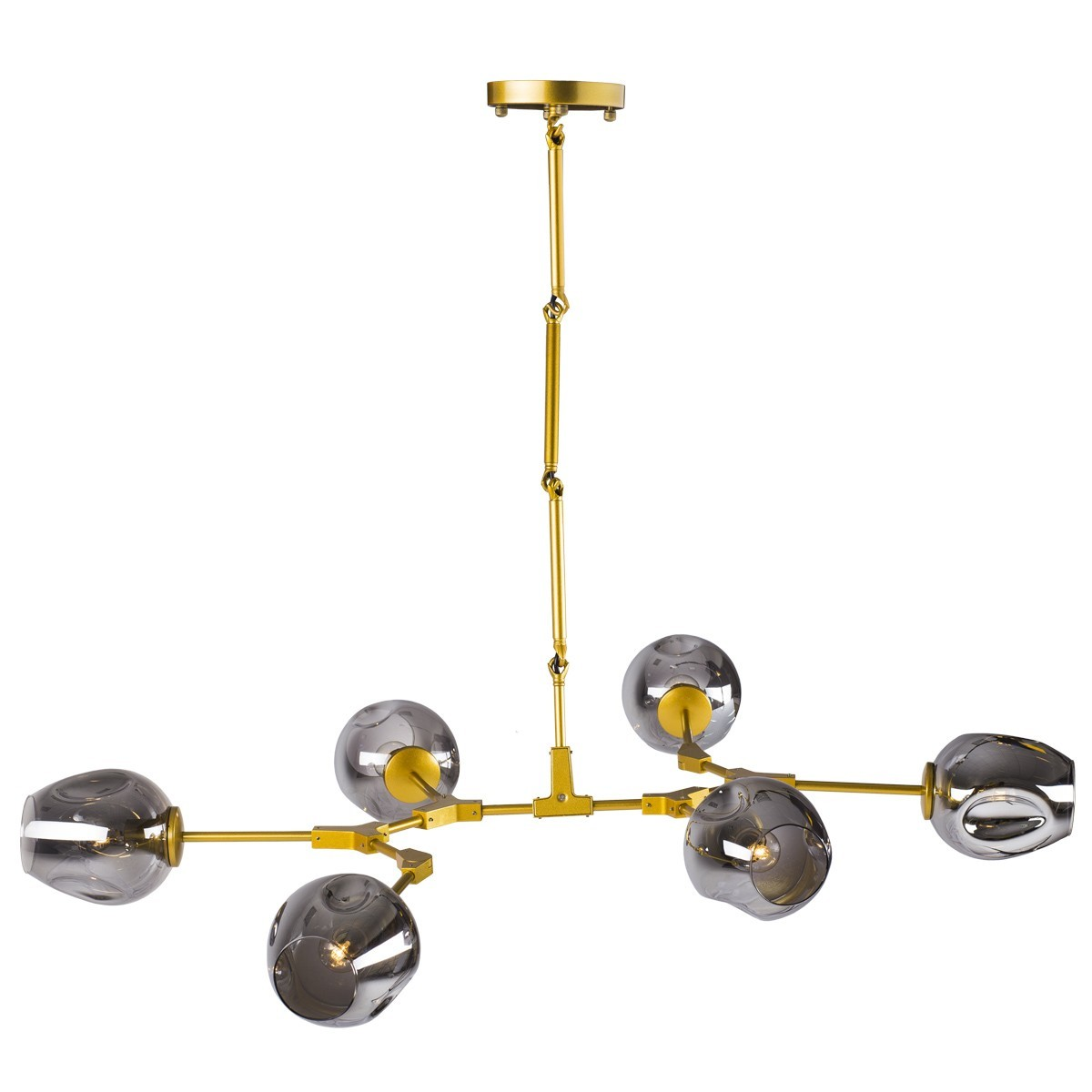 Lampa wisząca MODERN ORCHID-6 złoto szara 130 cm ST-1232-6 GOLD - Step into design Do -17% rabatu w koszyku i darmowa dostawa od 299zł !