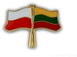 Flaga Polska - Litwa